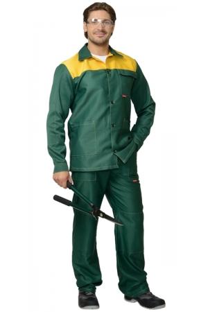 "Костюм ""СИРИУС-Стандарт"" куртка, брюки зеленый с желтым"